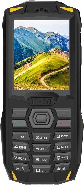 Odolný telefón Odolný tlačidlový telefón iGET Blackview GBV1000, žltá