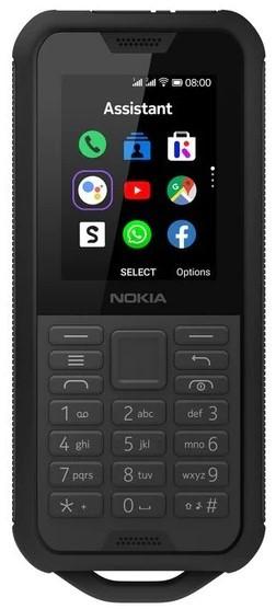 Odolný telefón Odolný tlačidlový telefón Nokia 800 4G DS, čierna