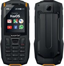 Odolný tlačidlový telefón Aligator K50 eXtremo, KaiOS, oranžová P