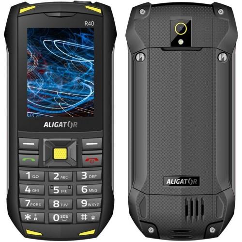 Odolný tlačidlový telefón Aligator R40 eXtremo, čierno-žltá