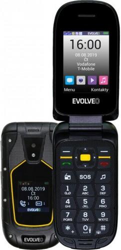 Odolný tlačidlový telefón Evolveo StrongPhone F5, véčko, čierna