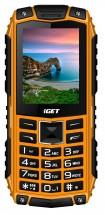Odolný tlačidlový telefón iGET Defender D10, oranžová