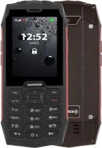Odolný tlačidlový telefón myPhone Hammer 4, červená