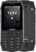 Odolný tlačidlový telefón myPhone Hammer 4, strieborná