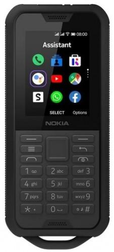 Odolný tlačidlový telefón Nokia 800 4G DS, čierna