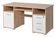 Office - PC stôl (dub sonoma / biela)