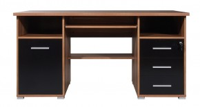 Office - PC stôl (orech / čierna)
