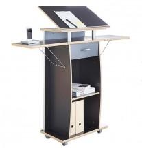 Office - pracovný pult (antracit)