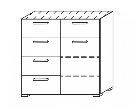 Onella - Komoda, 1x dvere, 5x zásuvka