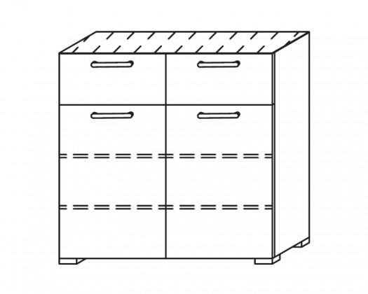 Onella - Komoda, 2x dvere, 2x zásuvka