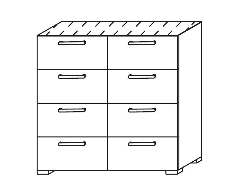 Onella - Komoda, 8x zásuvka
