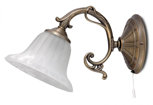 Orchidea - Nástenné osvetlenie, 8551 (bronzová/biela alabastrová)