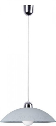 Organic - Stropné osvetlenie, E27 (biela se vzory/chrom)