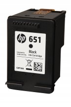 Originálne cartridge HP C2P10AE č. 651 Čierna