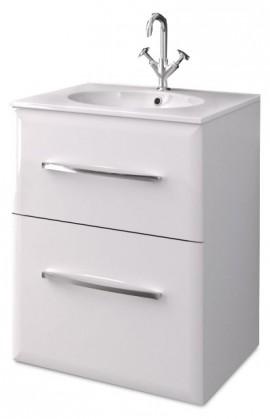 Orléans - Skrinka s umývadlom 60 cm (biela vysoký lesk)