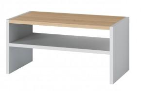 Oslo - Konferenčný stolík (dub sonoma/biela)
