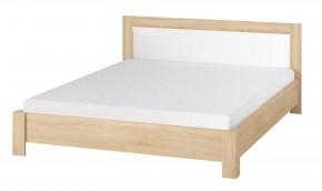 Oslo - Spálňová posteľ 160x200 cm (dub sonoma/biela)