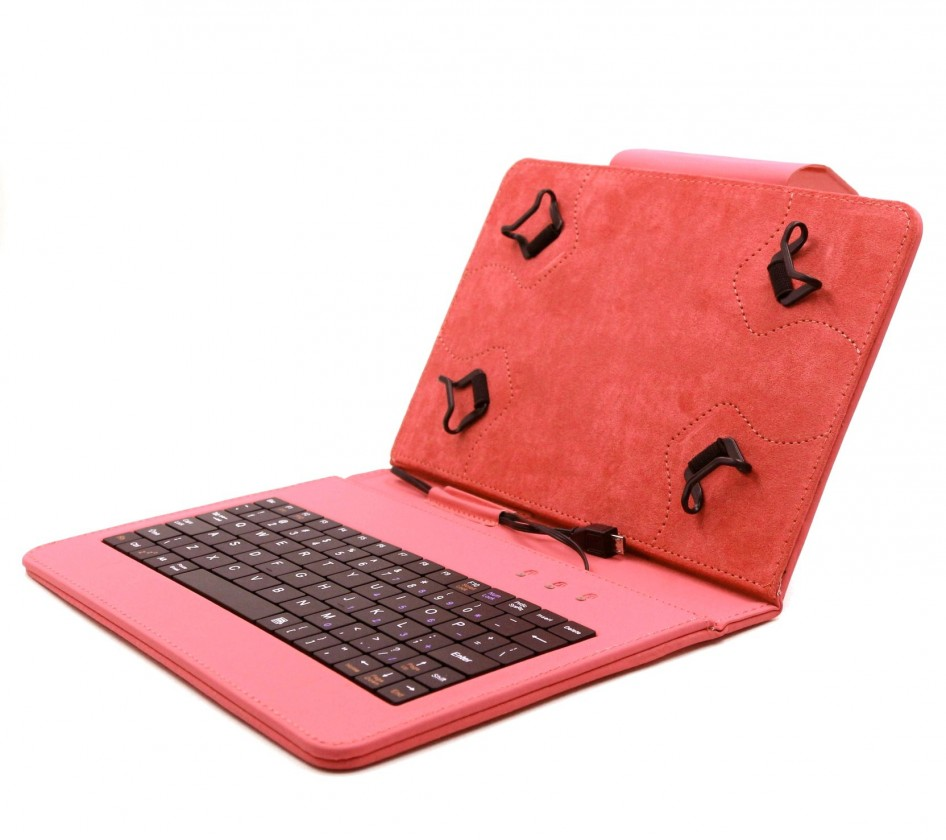 """Ostatné C-TECH PROTECT pouzdro s klávesnicí 7""""-7,85""""NUTKC-01,červen ROZBA"""