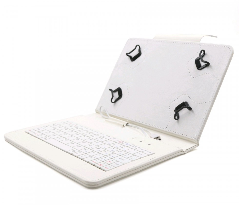 """Ostatné C-TECH PROTECT puzdro s klávesnicou 7 """"-7,85"""" NUTKC-01, biele"""