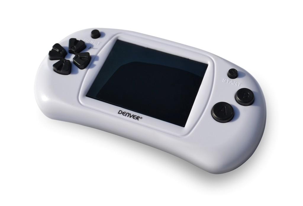 """Ostatné hracie konzoly Herný gamepad Denver GMP-240C, 2,4"""" obrazovka, 150 hier, biela"""