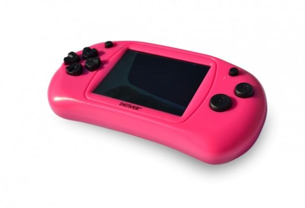 """Ostatné hracie konzoly Herný gamepad Denver GMP-240C, 2,4"""" obrazovka, 150 hier, ružová"""