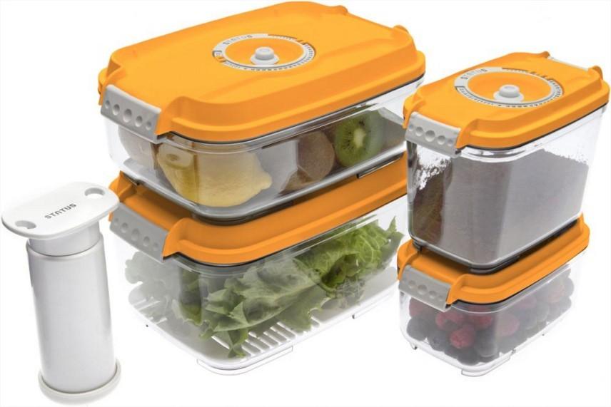 Ostatné kuchynské potreby Vakubox Status 157534, 5 dielny set, oranžový