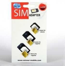 Ostatné príslušenstvo Adaptér na SIM kartu 3v1 WG