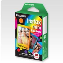 Ostatné príslušenstvo foto Fotopapier pre Fujifilm Instax Mini, 10ks, farby dúhy