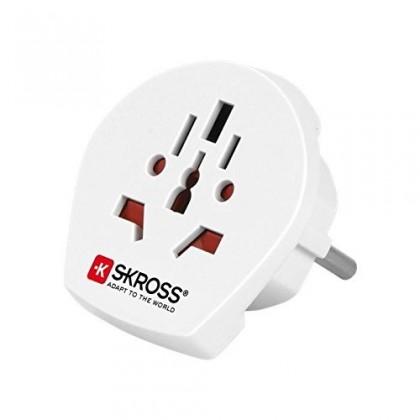 Ostatné príslušenstvo SKROSS cestovný adaptér pre cudzincov v SR, biely