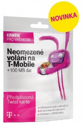 Ostatné príslušenstvo T-Mobile Twist V síti 200Kč kredit Okay