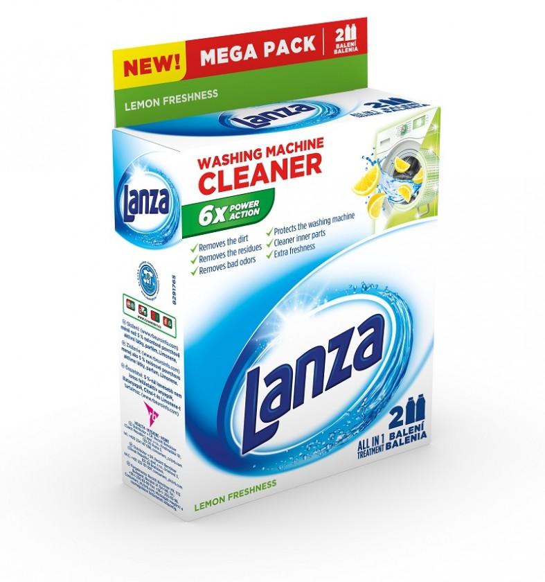 Ostatné príslušenstvo Tekutý čistič práčky Lanza A000007874, lemon, 2x250ml