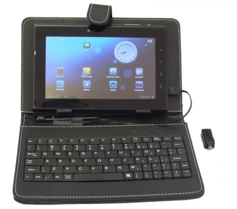 """Ostatné Puzdro s klávesnicou na 7"""" tablet - čierna"""