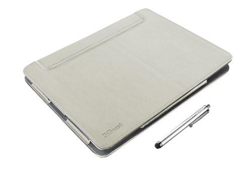 Ostatné Trust eLiga Elegant Folio Stand with stylus for iPad - sand