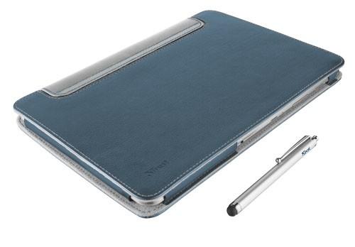 Ostatné Trust eLiga Folio Stand with stylus for Galaxy Tab 2 10.1, modrá