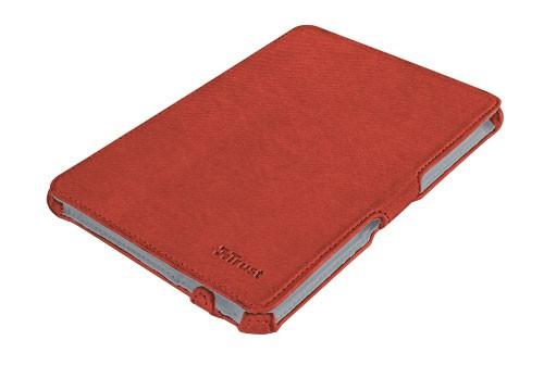 Ostatné Trust Stile Hardcover Skin & Folio Stand for iPad mini - red