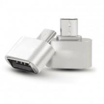 OTG adaptér WG Micro USB na USB s OTG, strieborná