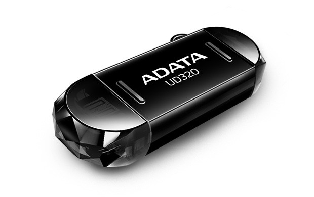 OTG flash disky ADATA UD320 32GB, OTG, (micro USB), čierný