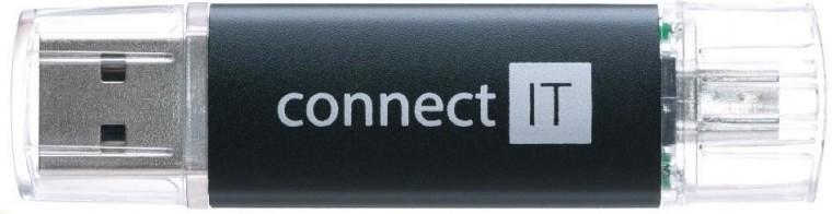 OTG flash disky Connect IT OTG 16GB čierny