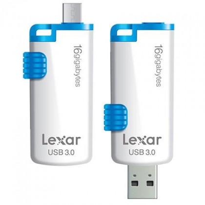 OTG flash disky Lexar JumpDrive M20 16GB biely-modrý