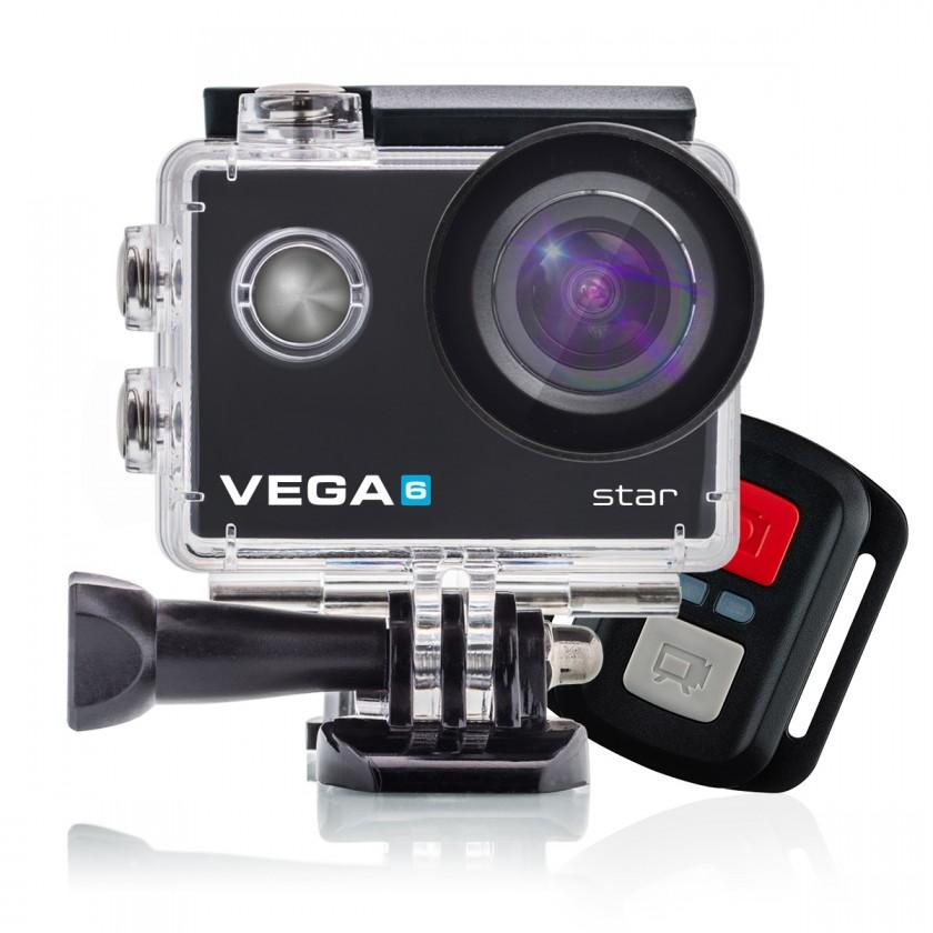 Outdoorová kamera Akčná kamera Niceboy Vega 6 STAR, 4K, optická stab. + Prísl.