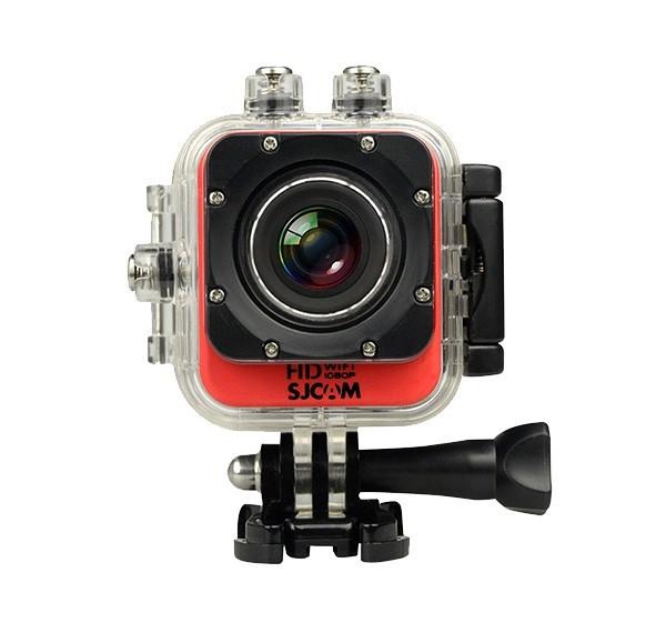 Outdoorová kamera SJCAM M10 CUBE WIFI športová kamera - červená