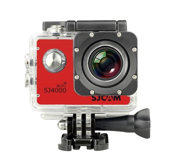 Outdoorová kamera SJCAM SJ4000 WIFI športová kamera - červená