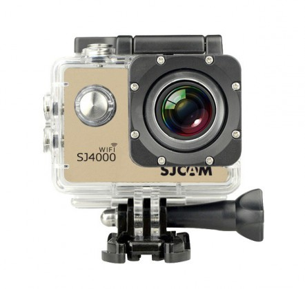 Outdoorová kamera SJCAM SJ4000 WIFI športová kamera - zlatá