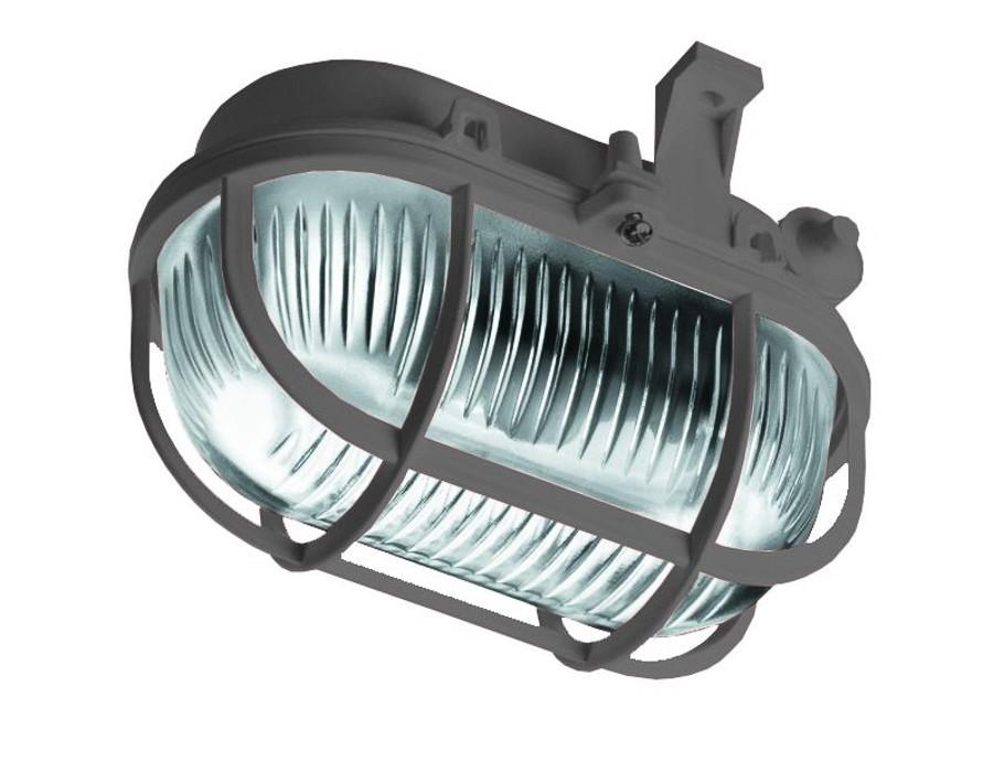 Oval - Stropné svietidlo, E27, 60W (sivá)