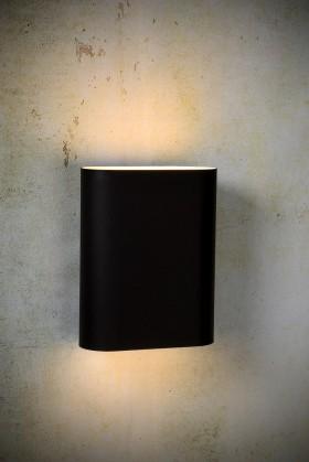 Ovalis - nástenné osvetlenie, 9W, 2xE14 (čierna)