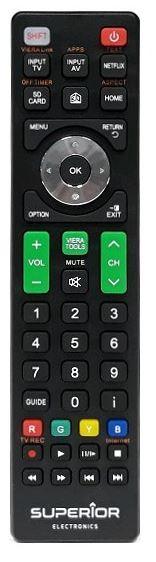 Ovládač na televízor Diaľkový ovládač pre značku TV Panasonic Superior RCPANASONIC
