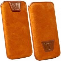 """Ozbo kožené univerzálné puzdro """"XL"""", oranžová"""