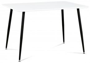 Pablo - Jedálenský stôl 120x80cm (biely mat/nohy kov čierny lak)