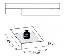 Padua - ÚP pre posteľ 180x200 cm (dub balken/alpská bílá)