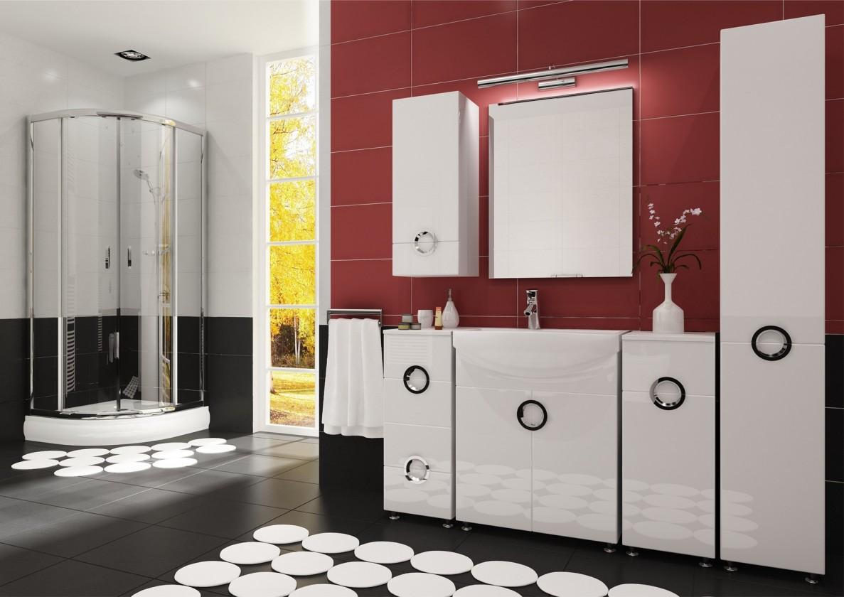 Palermo - Kúpelňová zostava (biela,boky biele)
